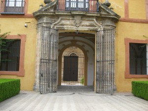 the gates to the Crossing Courtyard