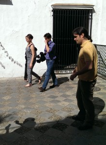 Luis Merino (UPO) and the French TV crew