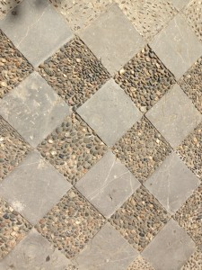 chequer flagstones/cobbles in concrete