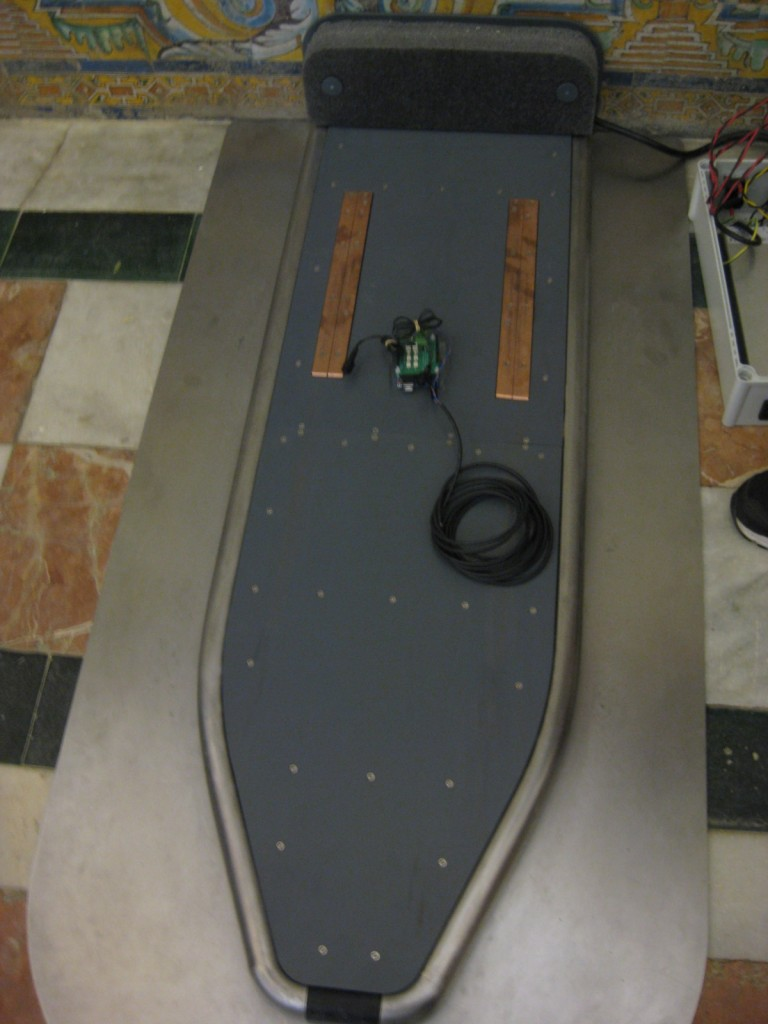 Controller board for the docking station: it will be installed under the surface.