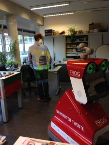 Testing with a simulation on the red FROG in Twente - November 2014.