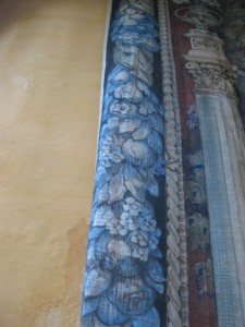 Border of a tapestry