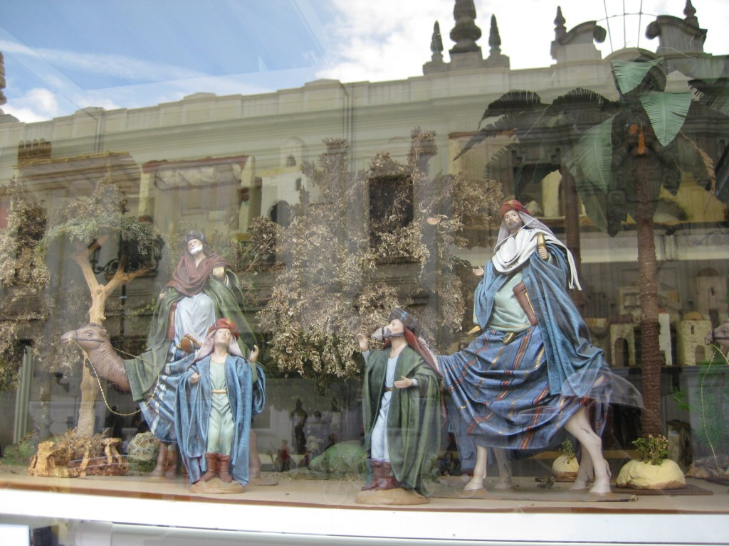 Buildings and figures for Nativity scenes